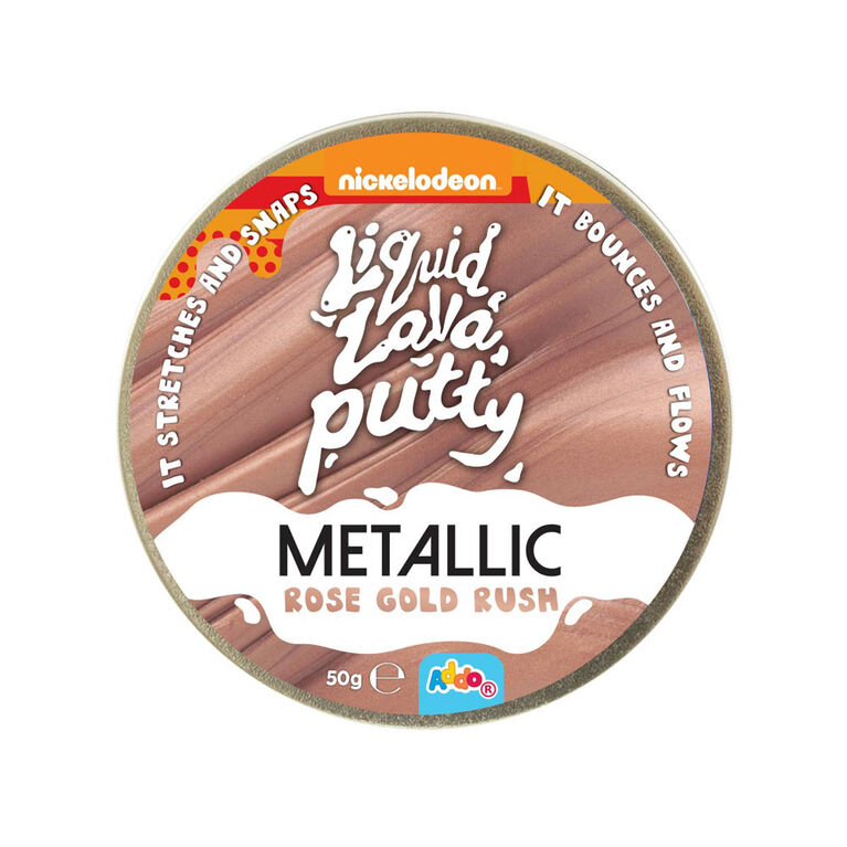 Nickelodeon Liquid Lava Putty Metallic Metals Rose Gold Rush - R Exclusive