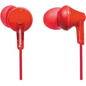 Écouteurs ergonomiques à isolation sonore RPHJE125 de Panasonic - rouge