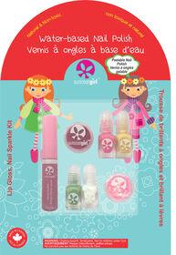 Lip Gloss, Nail Sparkle Kit