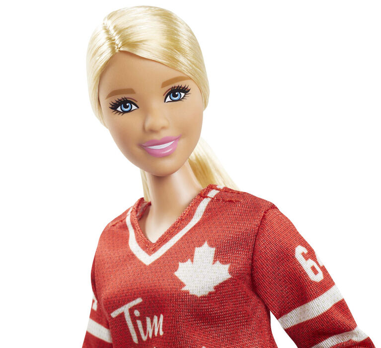 Tim Hortons Collectible Barbie Doll in Hockey Uniform