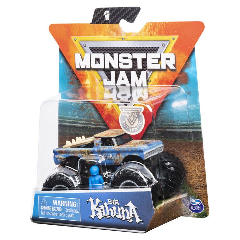 Monster Jam, Monster truck authentique Big Kahuna en métal moulé à l'échelle 1:64, série Arena Favorites