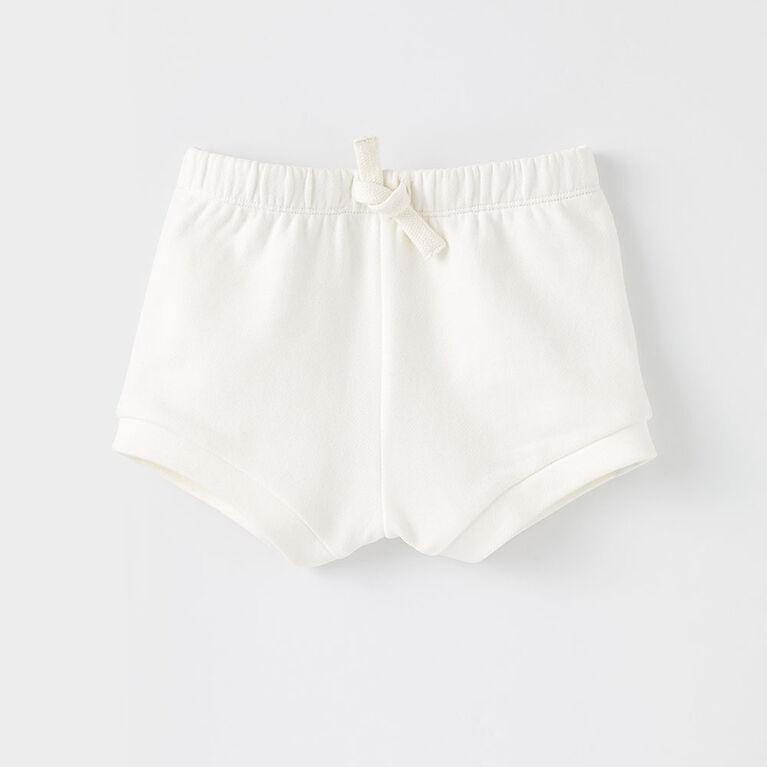 9-12m short bouffant en tricot - blanc