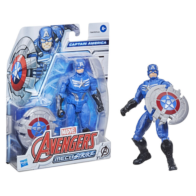 Avengers Mech Strike 6-inch Scale Captain America And Mech Battle Accessory