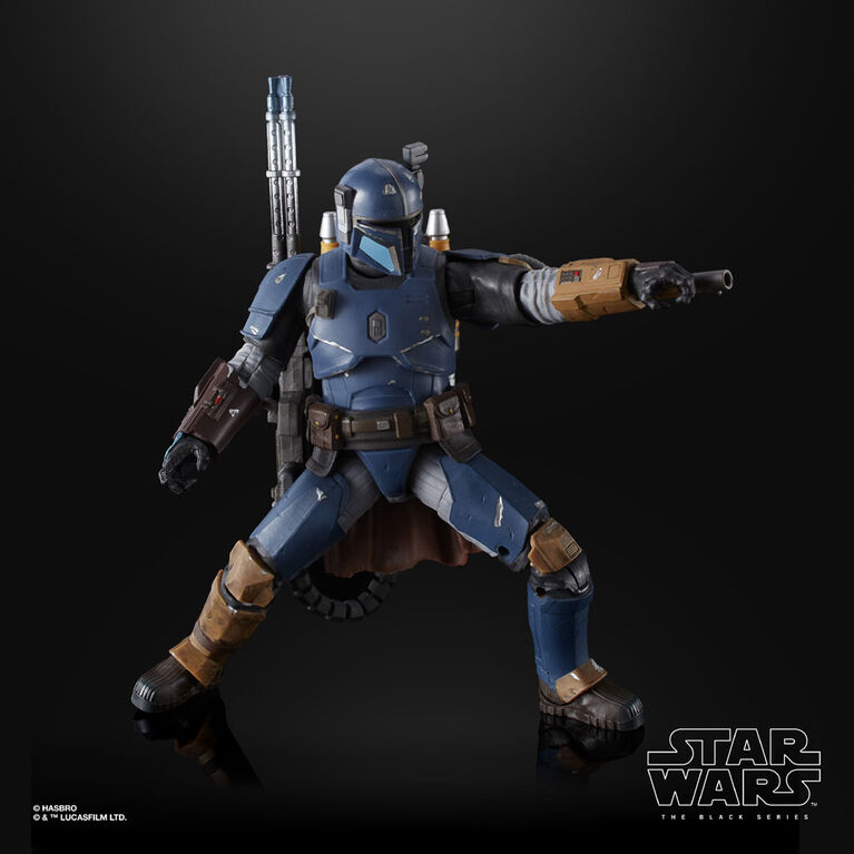Star Wars The Black Series: Heavy Infantry Mandalorian - 6-inch Scale The Mandalorian Collectible Deluxe - R Exclusive