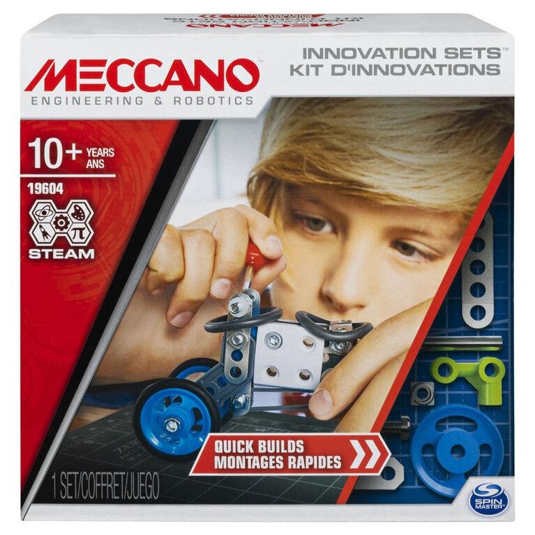 Meccano, Kit1, Montages rapides, Kit de construction STEAM avec de vrais outils