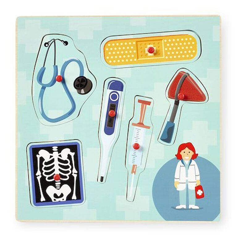 Imaginarium 6 Piece Occupation Peg Puzzle - Doctor