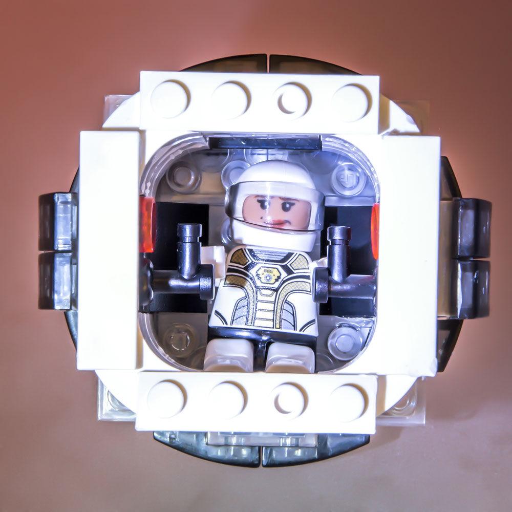 New Laser Pegs Mars Rocket Light-Up Building Block Playset 580 Piece
