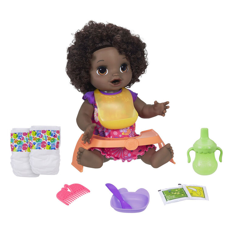 Baby Alive Happy Hungry Baby Black Curly Hair