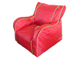 Boscoman - Cody Large Lounger Chair Bean Bag - Fiery Red