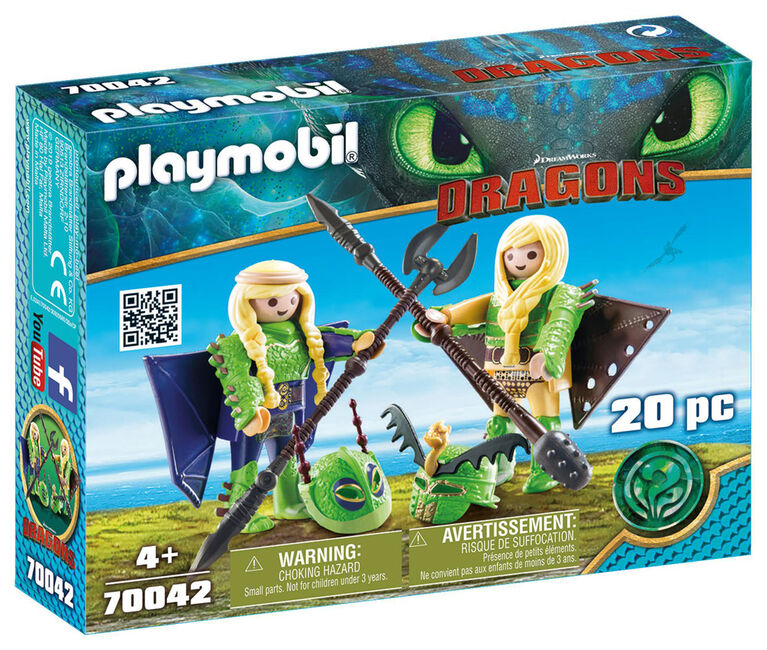 Playmobil - How To Train Your Dragon -  Ruffnut and Tuffnut with Flight Suit