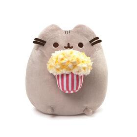 GUND Pusheen Snackables Popcorn Cat Stuffed Plush, Gray, 9.5 inch