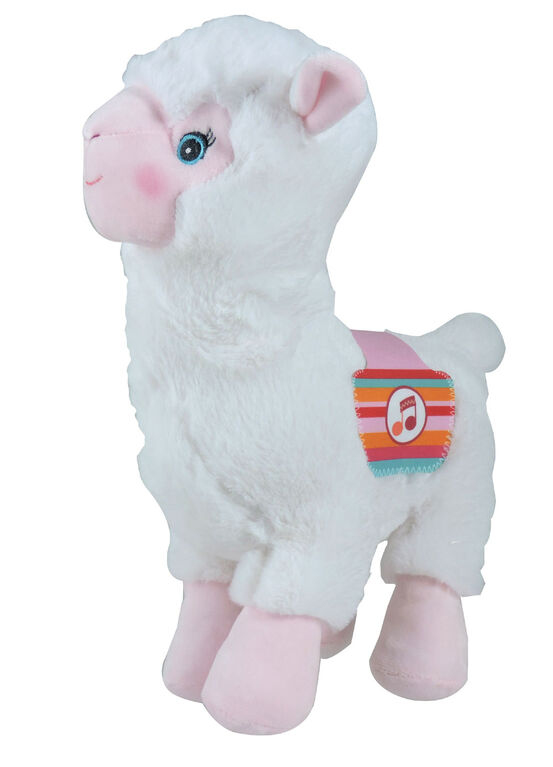 Lamadoo Plush with Sound - 30 cm - White