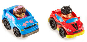 Fisher-Price Little People Wheelies 2-Pack, SUV & Coupe