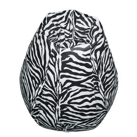 Boscoman - Pearshape Animal Print Bean Bag - Zebra