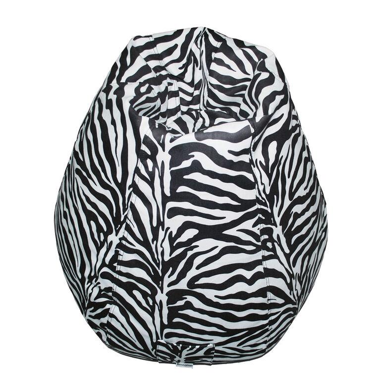 Boscoman - Pearshape Animal Print Bean Bag - Zebra