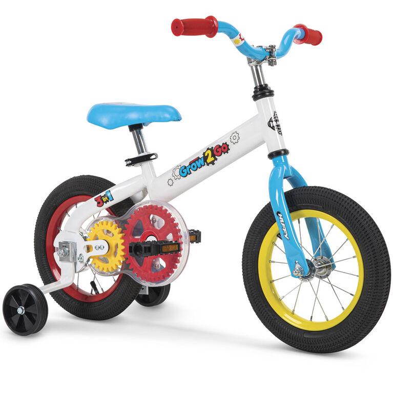 Huffy Grow 2 Go - Vélo pour enfants 2 en 1 - équilibre à pédale