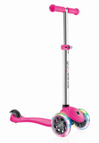 Globber Primo Lights Scooter - Neon Pink
