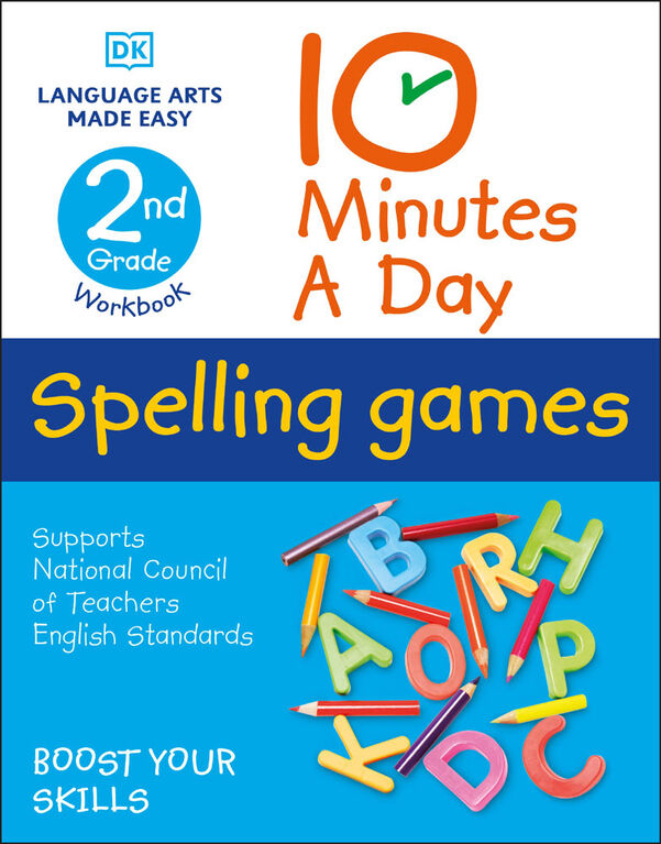 10 Minutes a Day Spelling Games, 2nd Grade - English Edition