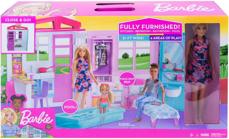 Barbie Portable Dollhouse with Doll