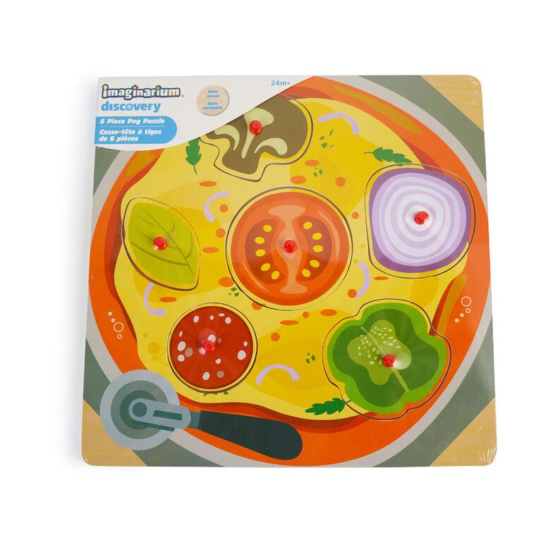 Imaginarium Discovery - 6 Piece Peg Puzzle Assortment - Pizza