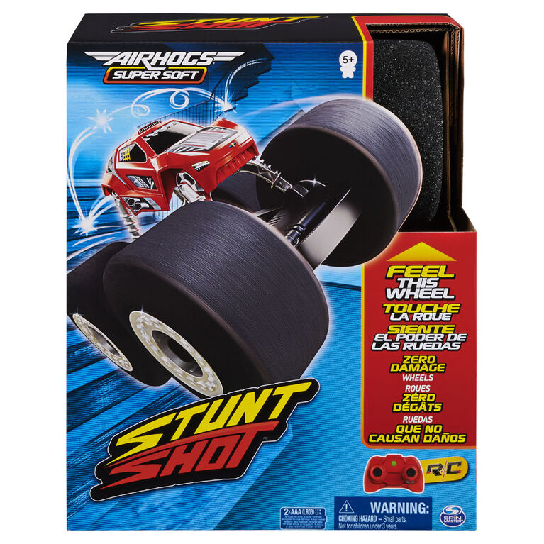 Air Hogs Super Soft, Stunt Shot Indoor Remote Control Stunt Vehicle with Soft Wheels