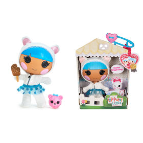 "Lalaloopsy Littles Doll - Bundles Snuggle Stuff with Pet Yarn Ball Bear, 7"" winter-themed doll"
