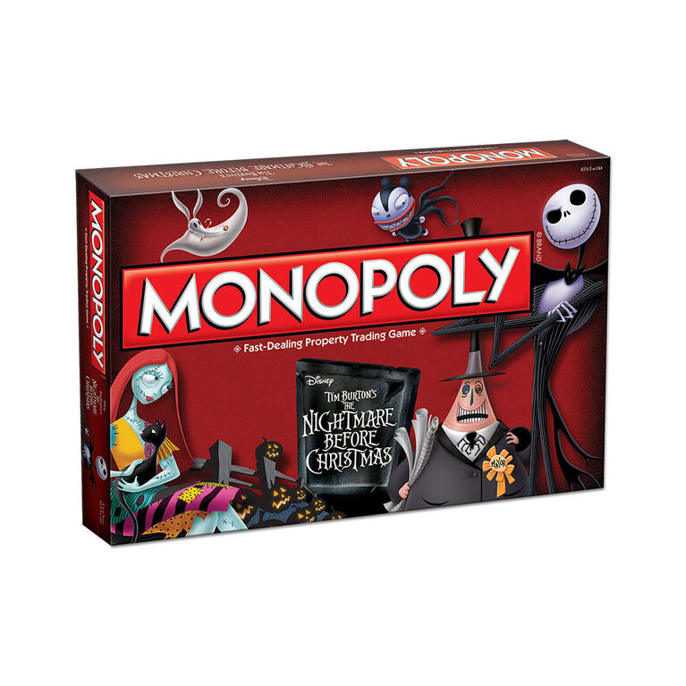 Monopoly Game: Tim Burton's The Nightmare Before Christmas