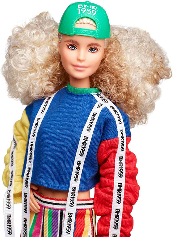 Barbie BMR1959 Fully Poseable Fashion Doll with Curly Blonde Hair