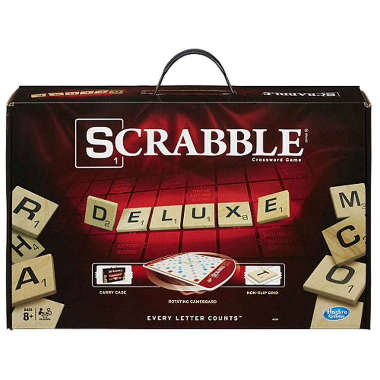 Scrabble Deluxe Edition Game - English Edition