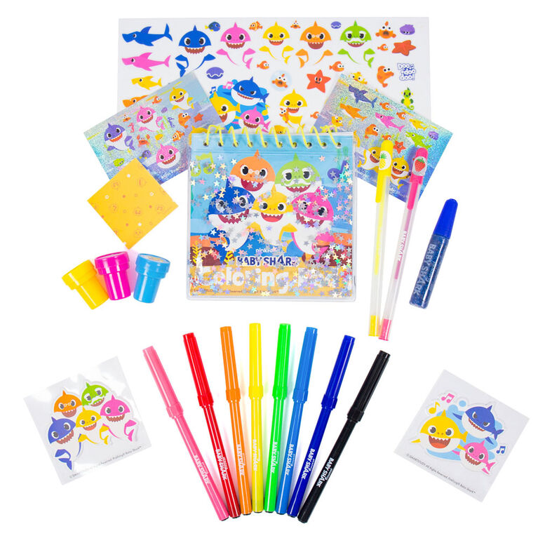 Pinkfong Baby Shark Stamp and Stickers Set - English Edition