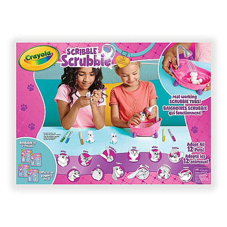 Crayola - Coffret baignoire et animaux Scribble Scrubbie