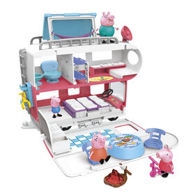 Peppa Pig Peppa's Adventures Peppa's Family Motorhome Preschool Toy - English Edition
