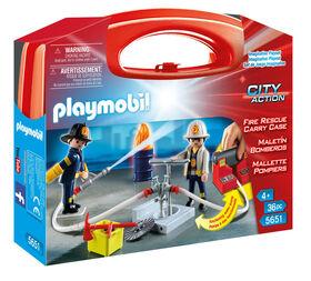 Playmobil - Mallette Transportable de Pompiers (5651)