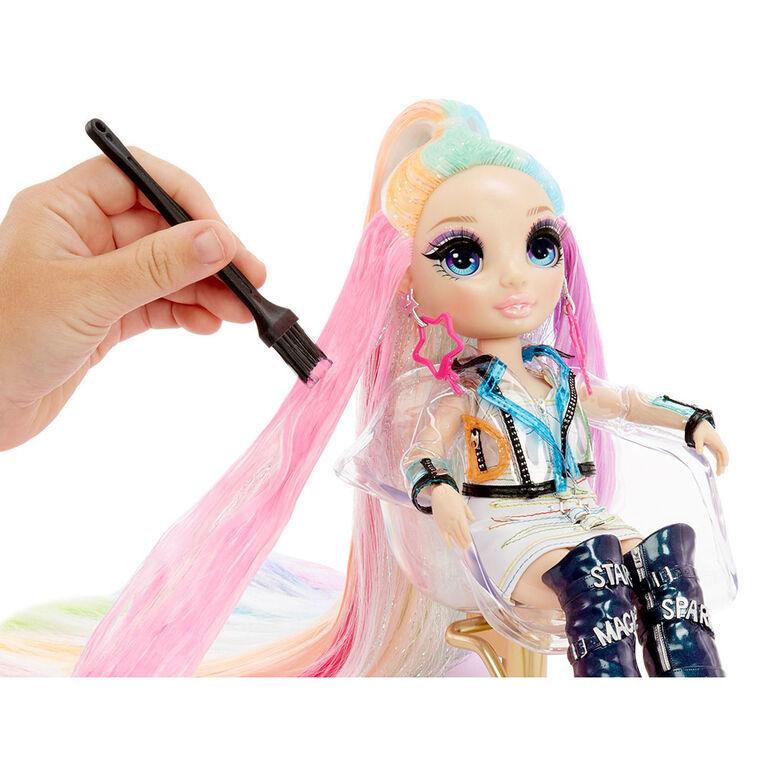 Rainbow High Salon Playset with Rainbow of DIY Washable Hair Color Foam for Kids and Dolls