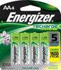 Paquet de 4 piles AA Energizer Rechargeables