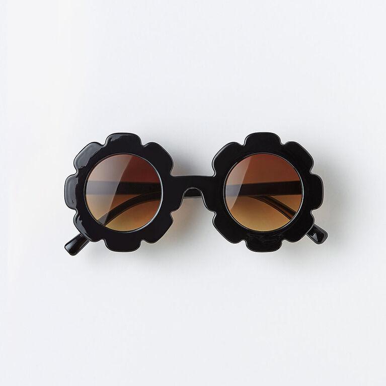 lunettes de soleil en forme de fleur - noir