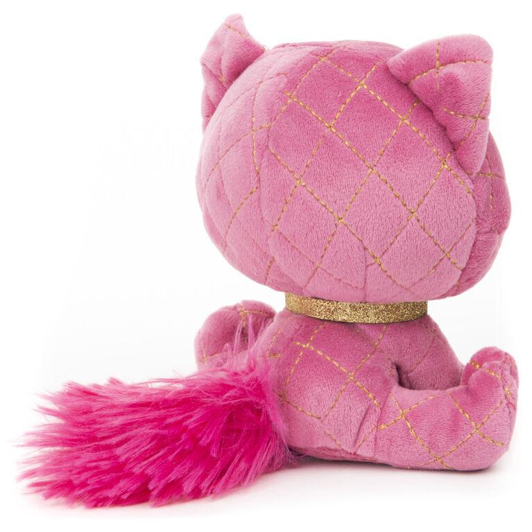 GUND P.Lushes Designer Fashion Pets, Madame Purrnel, chatte en peluche de luxe douce et élégante, rose et or, 15,2 cm