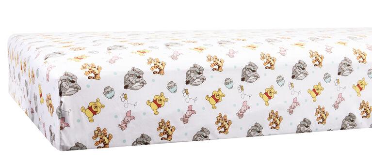 Disney Baby Drap de contour pour lit de bébé- Winnie The Pooh