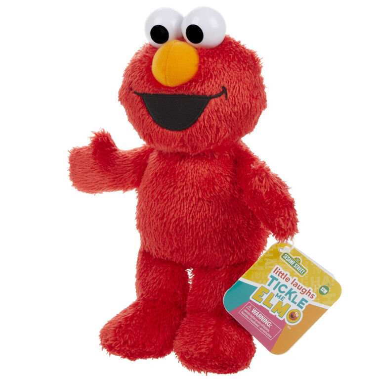 Sesame Street Little Laughs Tickle Me Elmo, Talking, Laughing 10-Inch Plush Toy for Toddlers - English Edition