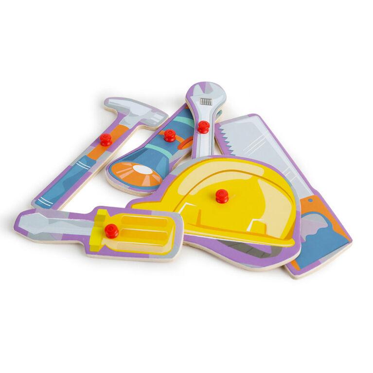 Imaginarium Discovery - 6 Piece Peg Puzzle Assortment - Construction