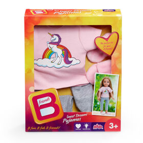 B Friends Sweet Dreams Pyjamas Fashion Outfit for 18-inch Doll