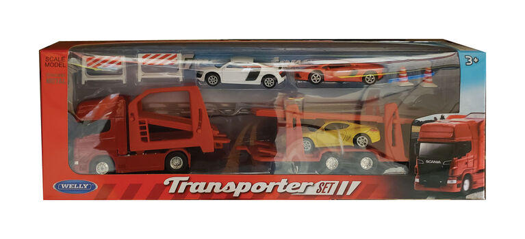 Diecast Car Transporter Set