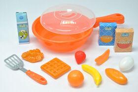 Just Like Home - Frying Pan Playset - Orange - Breakfast