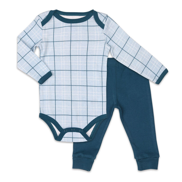 Koala Baby Bodysuit and Pants Set, Plaid - 18 Months