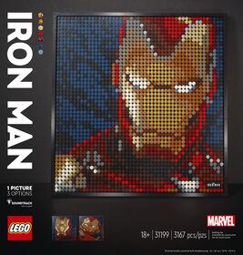 LEGO ART Iron Man de Marvel Studios 31199