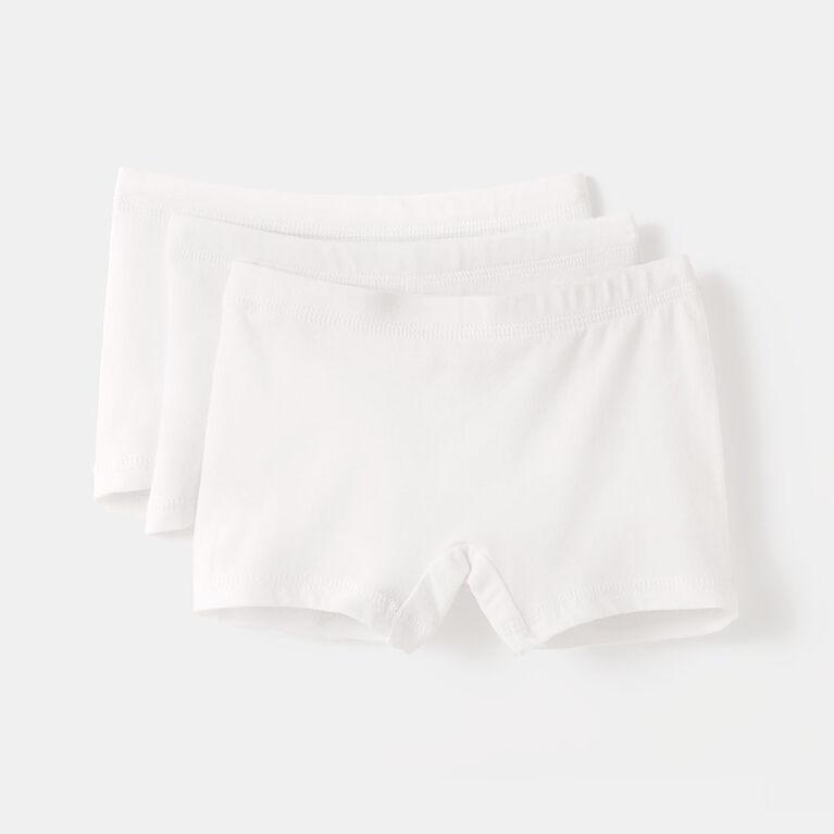 pretty cotton boxer briefs, 3-4y - white