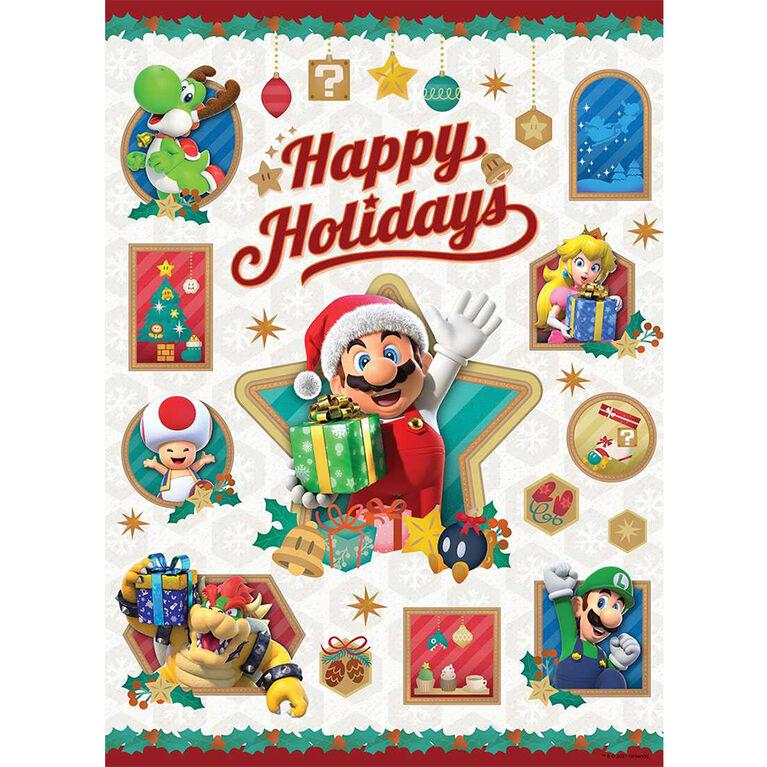 """Super Mario """"Happy Holidays"""" 1000 Piece Puzzle - English Edition"""
