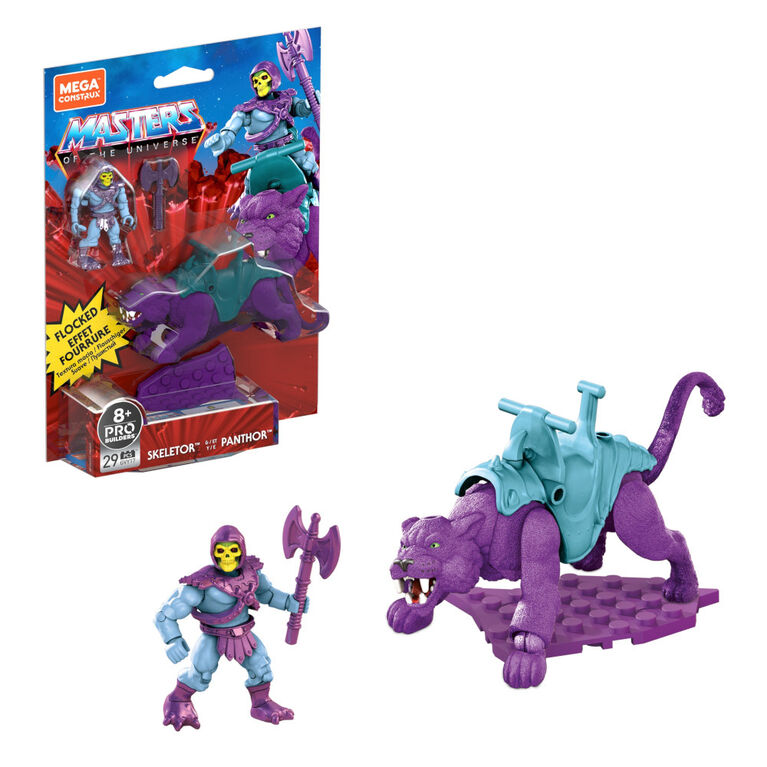 Mega Construx Masters of the Universe Skeletor and Panthor