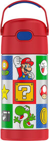 Thermos FUNtainer Stainless Steel Water Bottle - Super Mario Brothers, 355ml