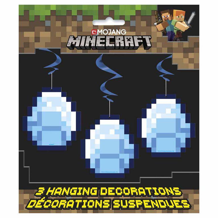"Minecraft 26"" Decorations Suspendues, 3un"